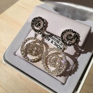 925 Swarovski Marcasite/Crystal Earrings